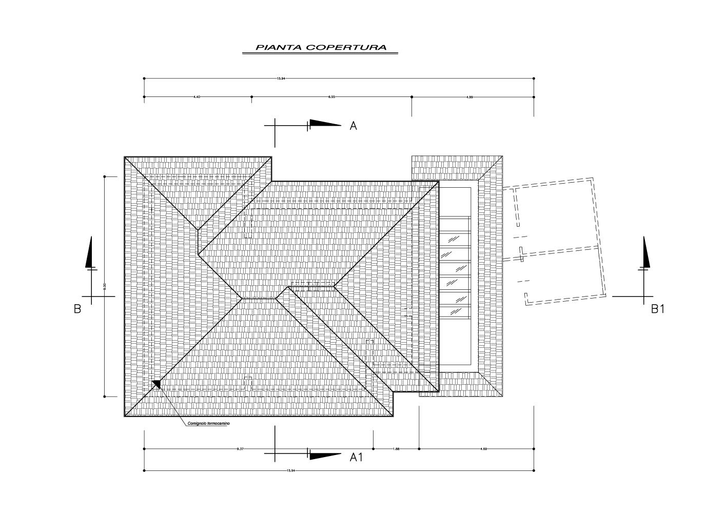 Tetto a padiglione tetto a padiglione with tetto a for Piani casa tetto del fienile